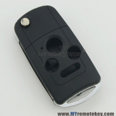 Refit flip remote key case shell for Honda 3 button with panic