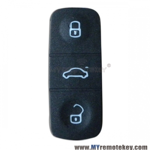 Remote button rubber pad for VW remote key 3 button