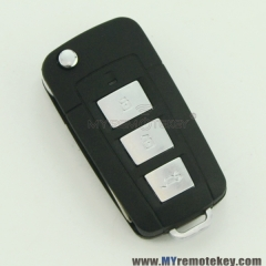 Refit flip remote key shell for Hyundai Sonata 3 button with panic