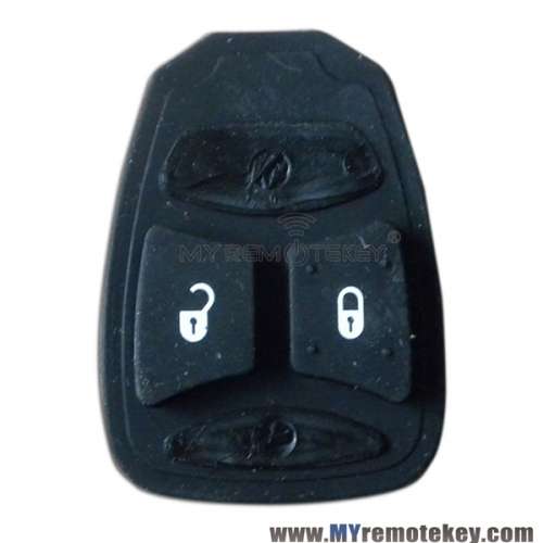 Rubber button pad for Chrysler Dodge Jeep remote key 2 button