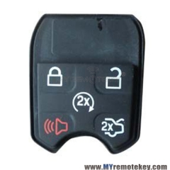 Remote button rubber pad for Ford remote key 5 button