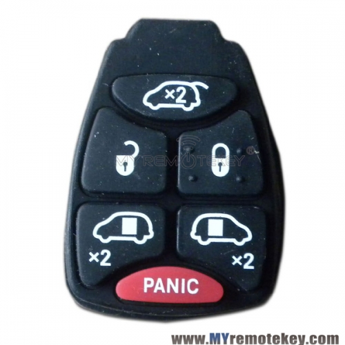 Rubber button pad for Chrysler Dodge Jeep remote key 5 button with panic