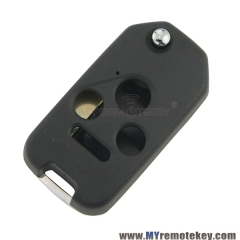 New type refit flip remote key case shell for Honda 3 button with panic
