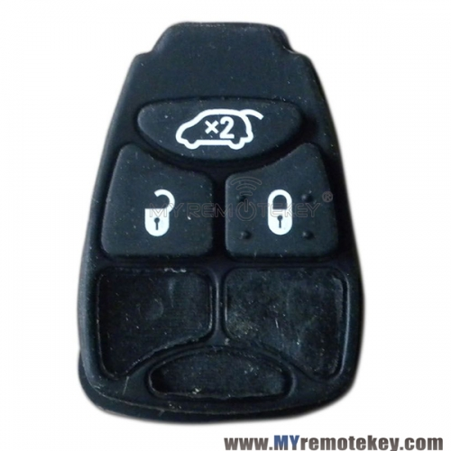 Rubber button pad for Chrysler Dodge Jeep remote key 3 button