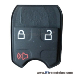 Remote button rubber pad for Ford remote key 3 button