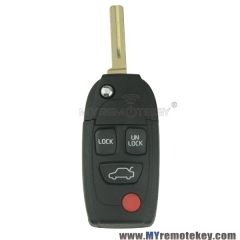 Refit remote key shell for volvo S40 S60 S80 V40 3 button with panic NE66