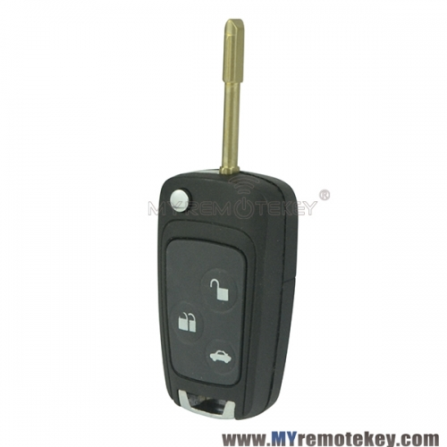 Refit flip remote key case shell for Ford Mondeo FO21 3 button
