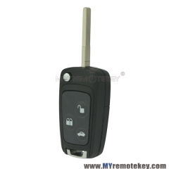 Refit flip remote key case shell for Ford Mondeo HU101 3 button