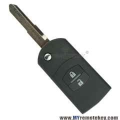 Flip remote key case shell for Mazda 2 3 6 RX8 MX5 2 button