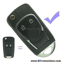Refit flip remote car key case shell for Buick 2 button