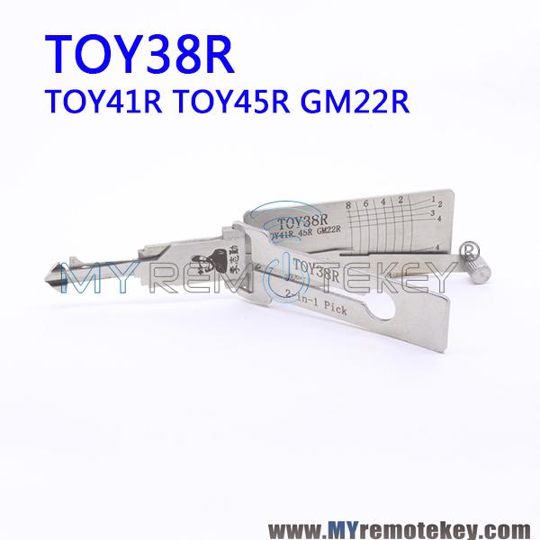LISHI TOY38R TOY41R TOY45R GM22R 2 in 1 Auto Pick and Decoder For Lexus  Toyota