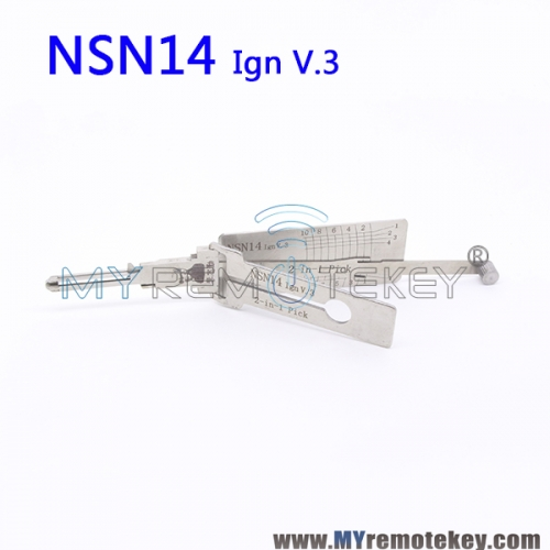 LISHI NSN14 Ign v.3 2 in 1 Auto Pick and Decoder For Nissan Subaru