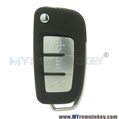 Flip remote car key shell case for Geely 3 button