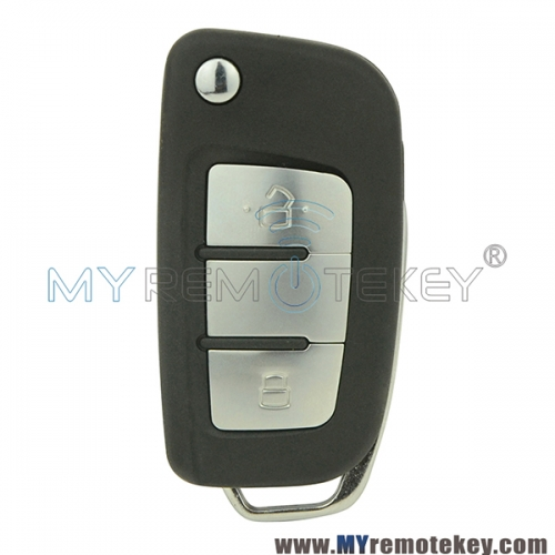 Flip remote car key shell case for Geely 2 button