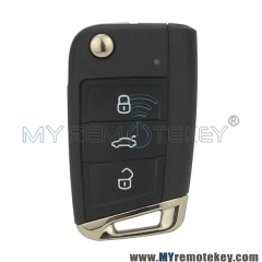 OEM 5G0 959 752 AG flip remote car key 3 button 433Mhz for VW Golf 7 2013 2014 5G0959752AG