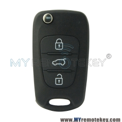 Flip remote key shell case 3 button TOY49 for Hyundai