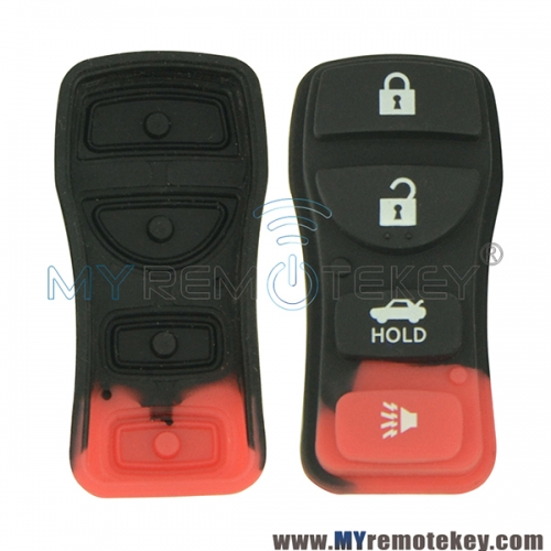 Remote rubber button pad for Nissan remote fob 4 button