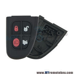 Flip remote key fob case shell for Jaguar X S FO21 4 button
