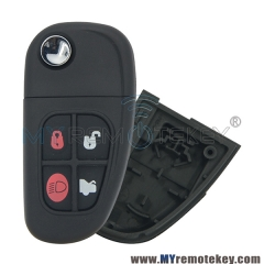 Flip remote key shell case cover for Jaguar X S XJ XK NHVWB1U241 FO21 profile 4 button