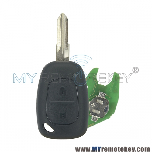 Remote key for Renault Kangoo 2003 - 2007 2 button VAC102 433mhz ID46 - PCF7946 ASK