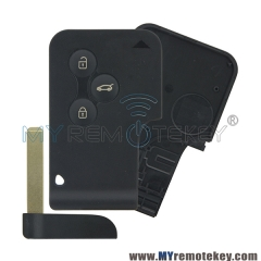 Smart key card shell case for Renault Megane 3 button