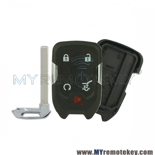 Replacement smart car key shell case for 2015 GMC Yukon Chevrolet Suburban Tahoe HYQ1AA 5 button