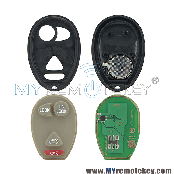 4 Buttons 315Mhz Smart Car Keyless Entry Car Fob Remote Key For Buick Rendezvous Century Regal Pontiac Oldsmobile L2C0007T