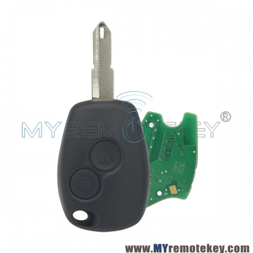 Remote car key 2 button NE73 433 mhz for Renault PCF7947 ASK original circuit board