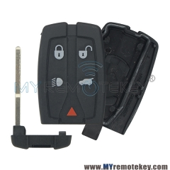 Smart key shell case for Landrover LR2 4 button with panic