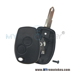 Remote key shell for Renault 2 button NE73
