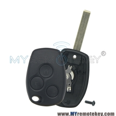 Remote car key case shell 3 button VA6 for Renault Clio III Kangoo II Master Modus