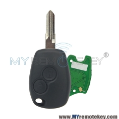 Remote car key 2 button VAC102 433 mhz for Renault PCF7946 PCF7947 ASK