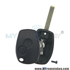 Remote car key shell case 2 button VA6 for Renault