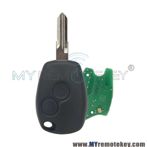 Remote car key 2 button VAC102 433 mhz for Renault PCF7947 ASK original circuit board