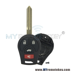For Nissan Versa Cube Juke Rogue Sentra remote key shell CWTWB1U751 4 button