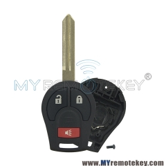 Remote key shell for Nissan Versa Cube Juke Rogue Sentra 3 button CWTWB1U751