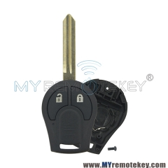 Remote key shell case for Nissan Note E12 Micra K13 Juke F15 2 button