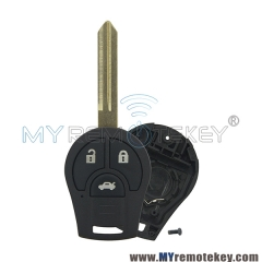 Remote key shell case for Nissan Note E12 Micra K13 Juke F15 3 button