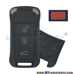 Remote flip key case shell for Porsche Cayenne 3 button with panic