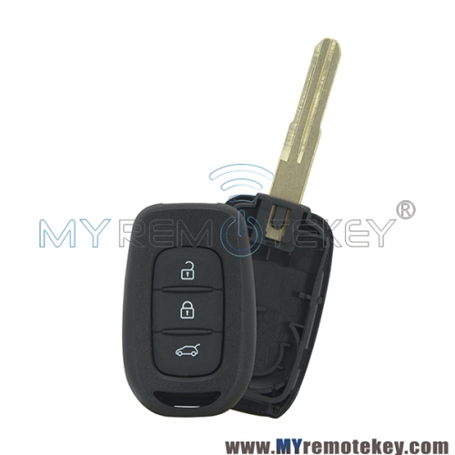 Remote car key case shell 3 button for Renault Duster Sandero Kwid 2016 2017