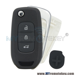 Flip remote key shell case 3 button for Renault Kadjar Captur
