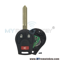 Remote key 2 button with panic for 2008 - 2013 Nissan Cube Rogue 315mhz 434mhz with ID46 chip CWTWB1U751