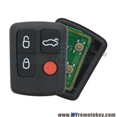 Remote key fob for Ford BA - BF 434Mhz 3 button with panic