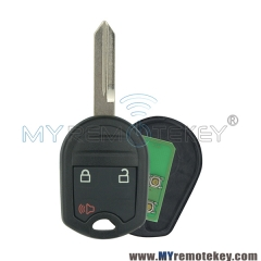 Remote key for Ford F-150 F-250 F-350 F-450 F-550 2012 2013 3 button 315mhz FO38