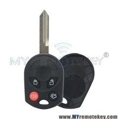 For Ford Edge remote head key shell 4button