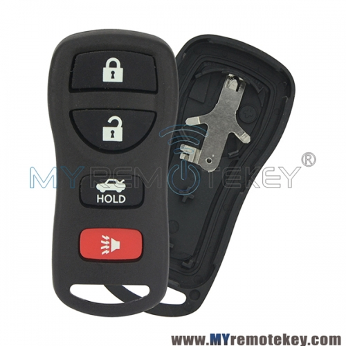 Remote key fob case shell for Nissan Quest Armada Titan Xterra Fontier Pathfinder 4 button KBRASTU15