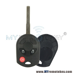 Remote car key case shell for Ford Edge HU101 3 button