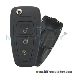 Flip remote key case shell 3 button HU101 key blade for Ford car key