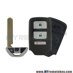 For Honda Accord CRV Fit smart key shell case with emergency key 3 button