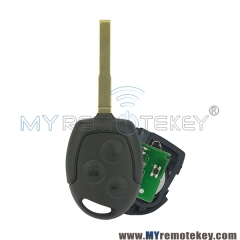 Remote key HU101 for Ford Focus C-Max S-Max Connect Fiesta Fusion Galaxy 2006 2007 2008 2009 2010 ID63 433Mhz 3 button
